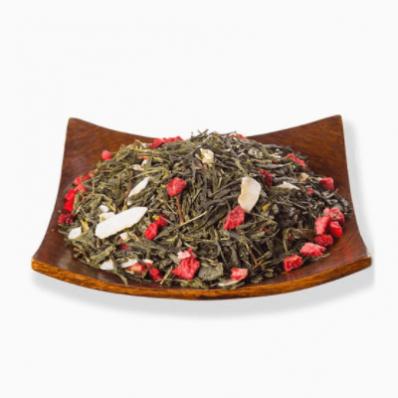 Чай листовой Зеленый Клубника со сливками