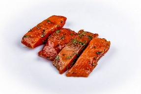 Кета филе без кожи в горчично-медовом соусе